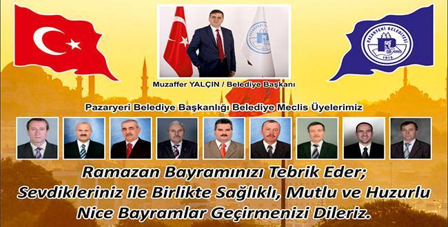 Pazaryeri Belediye Başkanı Muzaffer Yalçın'ın Bayram Mesajı