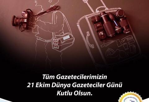 """-BAŞKAN BAKICI """"21 EKİM DÜNYA GAZETECİLER GÜNÜ'NÜ KUTLADI"""