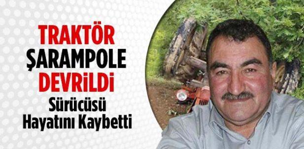 Pazaryeri'nde Şarampole devrilen traktörün sürücüsü hayatını kaybetti
