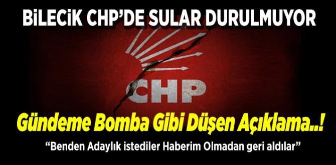 """» Bilecik CHP'de Sular Durulmuyor """"gündeme bomba gibi düşen açıklama"""""""