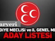 MHP PAZARYERİ BELEDİYE BAŞKANI,BELEDİYE VE İL GENEL MECLİS ADAYLARI