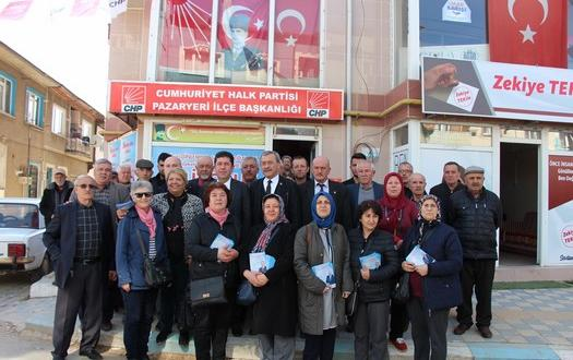 CHP BİLECİK MİLLETVEKİLİ TÜZÜN'ÜN PAZARYERİ'NDE ESNAF ZİYARETİ