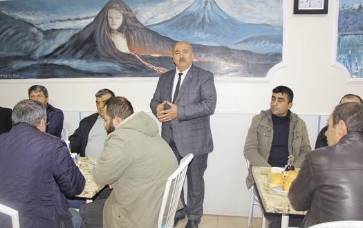 MHP Belediye Başkan adayı Filizli, Arabacı Esnafıyla Buluştu