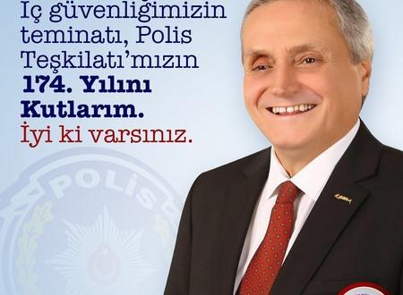BAŞKAN BAKKALCIOĞLU'NUN POLİS HAFTASI MESAJI