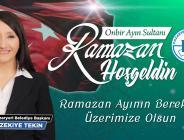 Pazaryeri Belediye Başkanı Zeki Tekin'den Ramazan Mesajı
