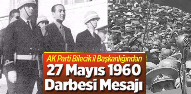 """AK PARTİ'DEN """"27 MAYIS DARBESİ """" AÇIKLAMASI"""