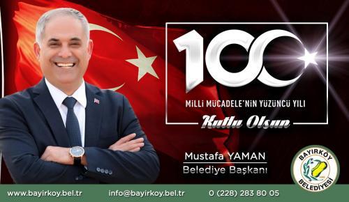 Bayırköy Belediye Başkanı Mustafa Yaman'ın 19 Mayıs Mesajı