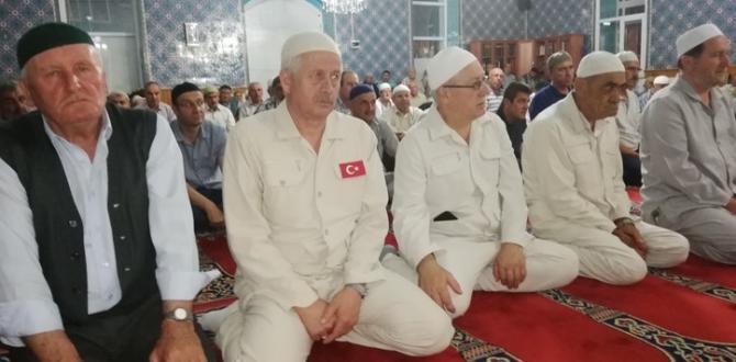 PAZARYERİ'NDE İLK HAC KAFİLESİ İÇİN MEVLİDİ ŞERİF