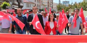 Pazaryeri Halkı 15 Temmuz Demokrasi ve Milli Birlik Günü İçin Yürüdü