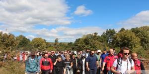 'Birlikte Yürüyelim' temalı yürüyüşe 1000 kişi Katıldı