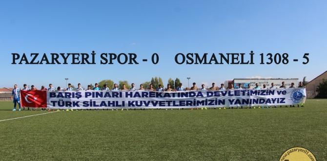PAZARYERİ SPOR SAHASINDA FARKLI YENİLDİ 0-5
