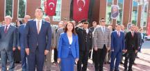 Pazaryeri'nde 29 Ekim Cumhuriyet Bayramı Çelenk Töreni