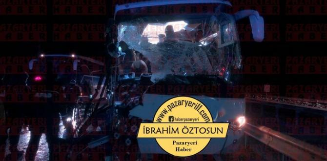 Tünel Petrol Önünde Trafik Kazası 11 Yaralı