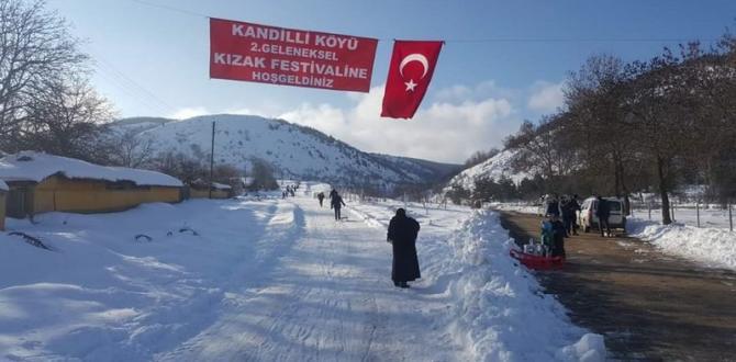 Bozüyük Kandilli Köyünde Düzenlenen Kızak Festivali Renkli Görüntülere Sahne Oldu