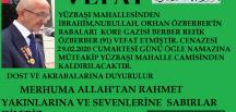 PAZARYERİ'NİN KORE GAZİSİ VEFAT ETTİ