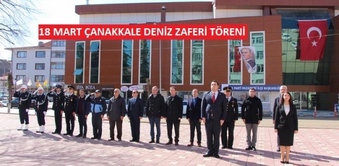 Pazaryeri'nde 18 Mart Çanakkale Deniz Zaferi Çelenk Töreni