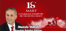 BAYIRKÖY BELEDİYE BAŞKANI YAMAN'IN 18 MART MESAJI