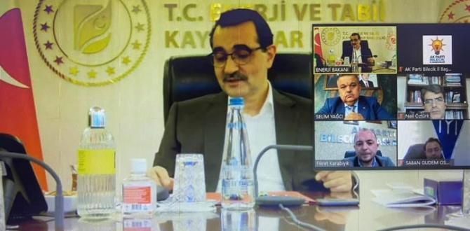Pazaryeri Belediye Başkanı Tekin, Bakan Dönmez ile Telekonferansa Katıldı