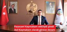 Pazaryeri Kaymakamı Çırak'ın Asaleti Onaylandı