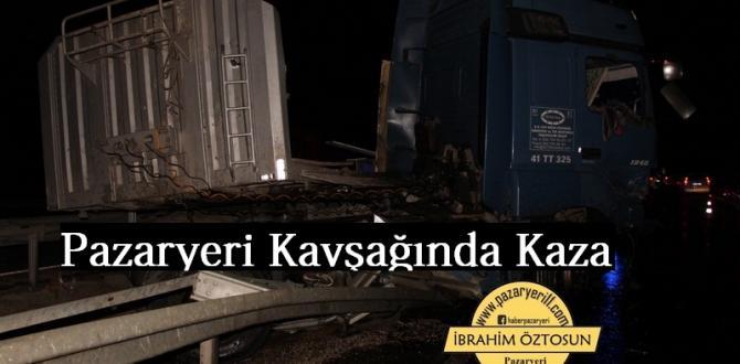 Pazaryeri Naldöken Kavşağında Trafik Kazası 1 Yaralı