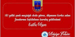 Başkan Tekin'in Jandarma Teşkilatının 181.Kuruluş Yıldönümü Mesajı