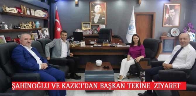 Bozüyük Belediye Başkan Yardımcılarından Başkan Tekin'e ziyaret