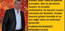 KURBAN BAYRAMINIZ MÜBAREK OLSUN(PAZARYERİ HABER)