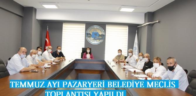 Pazaryeri Belediye Meclisi 3 ay aranın ardından Toplandı