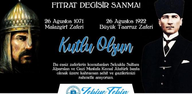 Belediye Başkanı Tekin'in 26 Ağustos mesajı