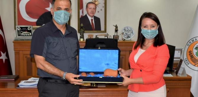 Başkan Tekin'den Orman Bölge Müdürü Akın'a ziyaret