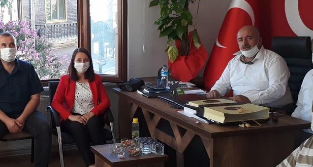 Başkan Tekin ve Ak Parti Teşkilatından MHP İlçe Teşkilatına ziyaret