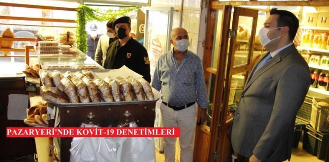 PAZARYERİ'NDE KOVİT-19 DENETİMLERİ SÜRÜYOR.