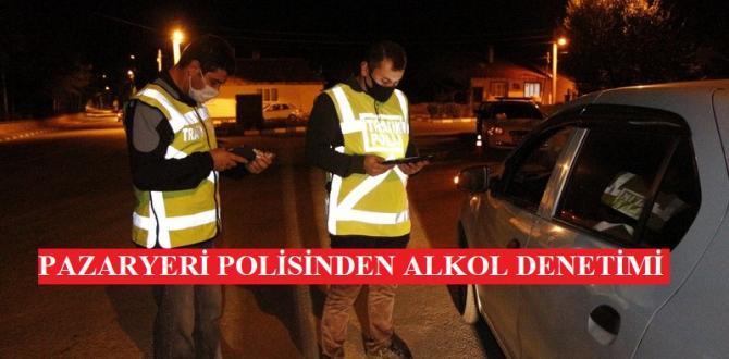 Pazaryeri Emniyetinden Sürücülere Alkol Denetimi