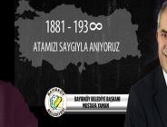Bayırköy Belediye Başkanı Mustafa Yaman'ın 10 Kasım Atatürk'ü Anma Mesajı