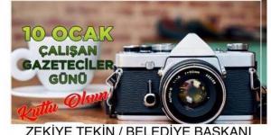 Belediye Başkanı Tekin'in , 10 Ocak Gazeteciler Günü Mesajı