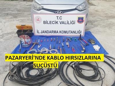 Kablo Farelerine Jandarma'dan Suç üstü