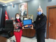 Bilecik Jandarma Alay Komutanı Sandal'dan Başkan Tekin'e Ziyaret