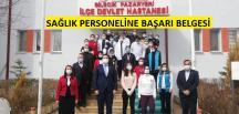 Pazaryeri Kaymakamı Çırak'tan Sağlık Çalışanlarına Başarı Belgesi