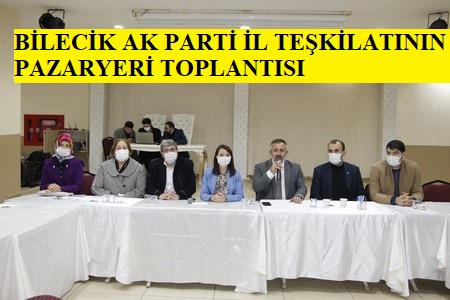 AK Parti Bilecik İl Teşkilatı Pazaryeri İlçesinde Toplandı