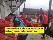 Osmaneli'de Patates Soğan Dağıtımları Başladı.