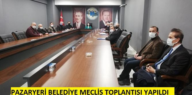 Pazaryeri Belediye Meclisi 15 Gündem Maddesi ile Toplandı
