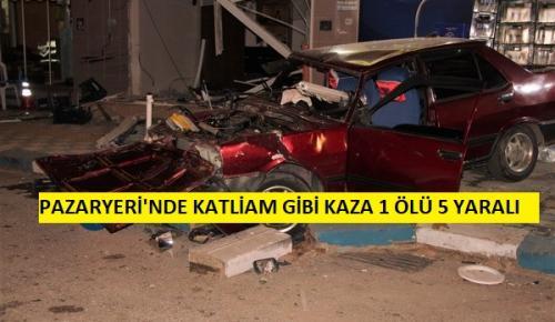 Pazaryeri'nde Katliam Gibi Kaza 5 yaralı 1 Ölü