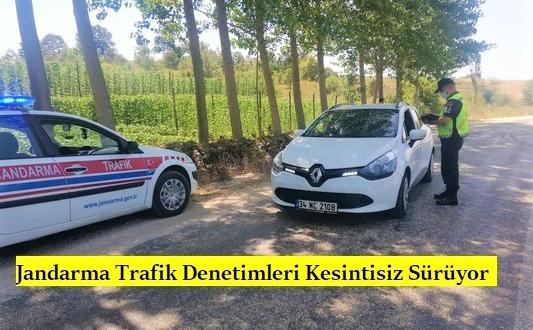 Jandarma Trafik Denetimleri Kesintisiz Sürüyor