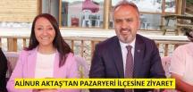 Bursa Büyük Şehir Belediye Başkanı Aktaş'tan Pazaryeri ilçesine ziyaret