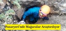 Pazaryeri'nde Mağaralar Araştırılıyor